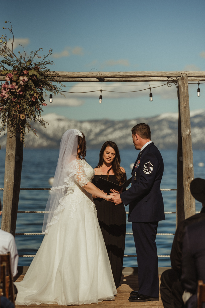 West Shore Cafe Wedding, couple holding hands photo