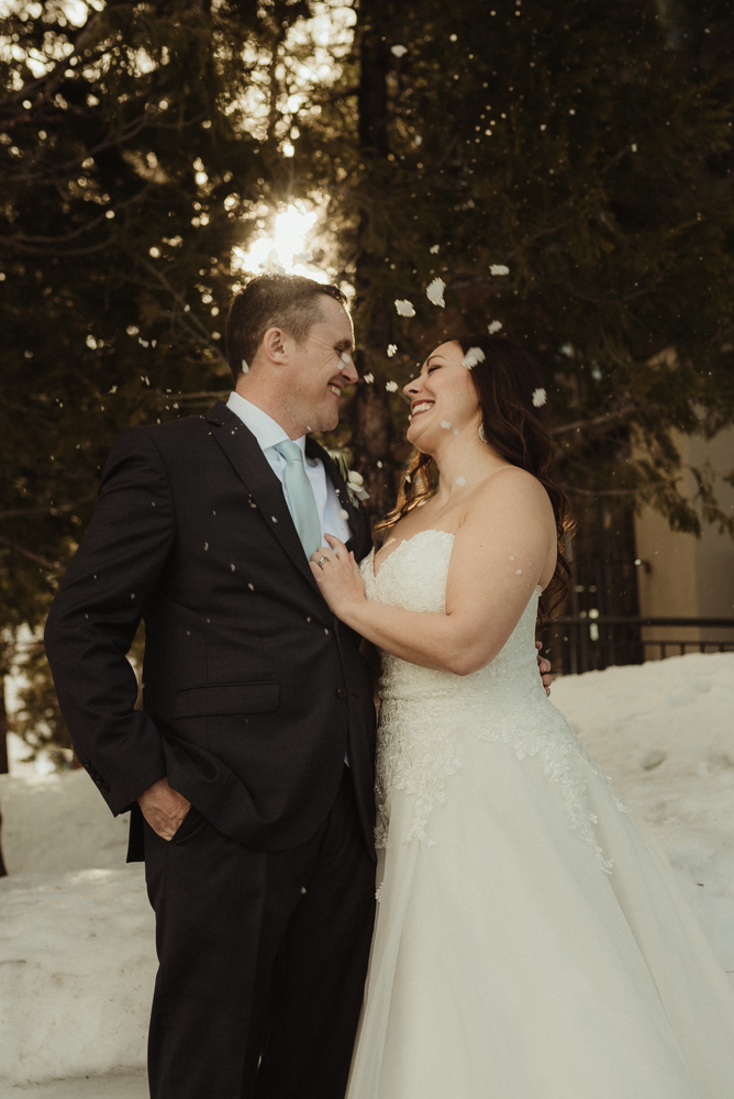 West Shore Cafe Wedding, snowing photo