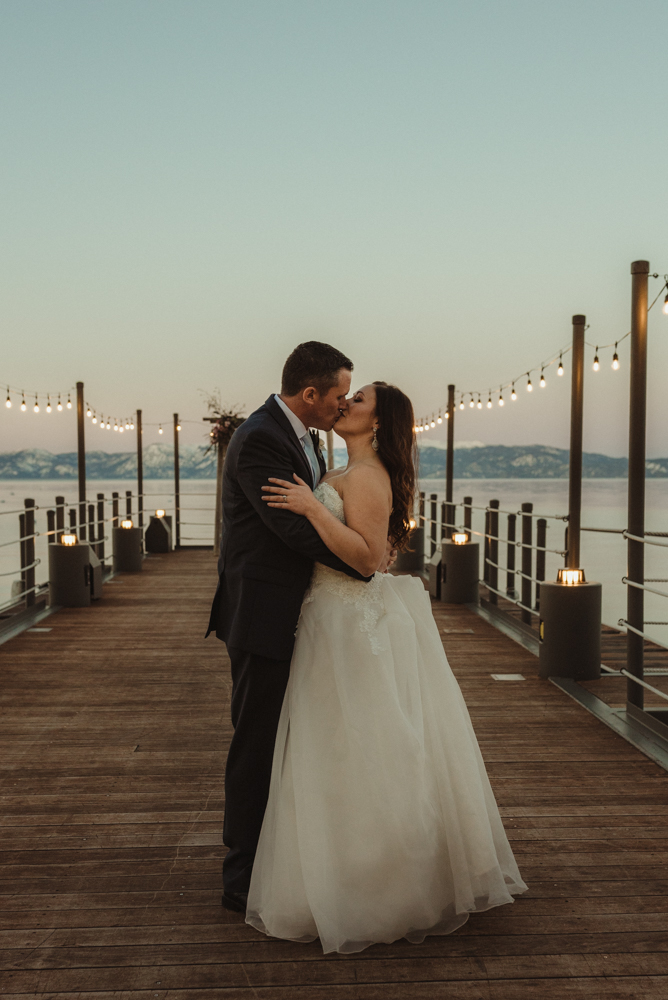 West Shore Cafe Wedding, twilight in tahoe photo