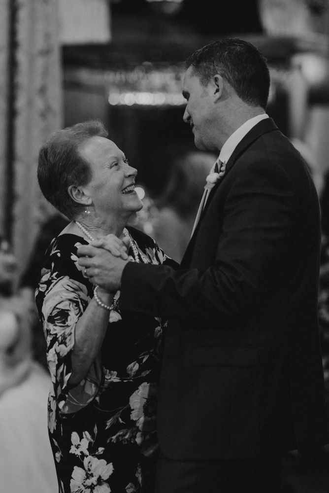 West Shore Cafe Wedding, groom's first dance with his mom photo