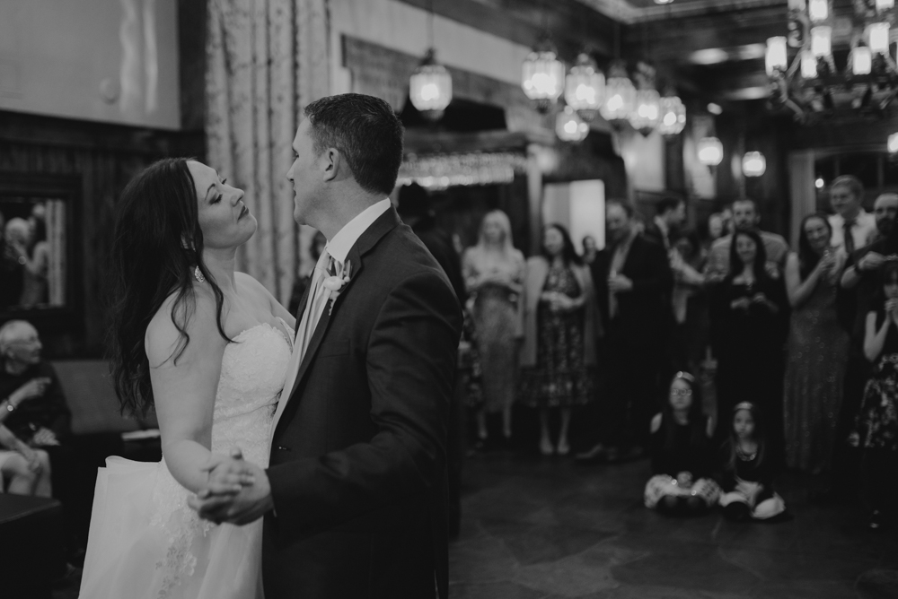 West Shore Cafe Wedding, couples first dance photo