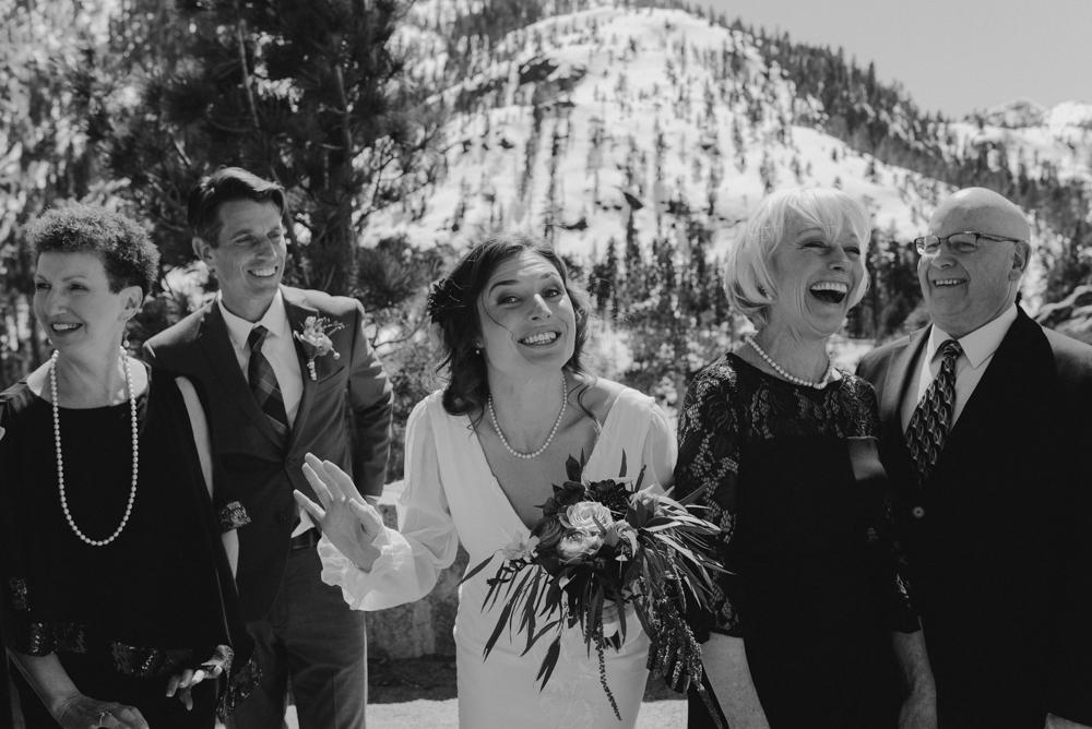 Emerald Bay Elopement, bride candid photo