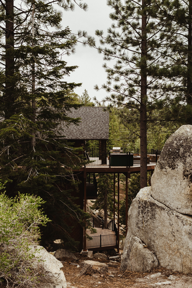 Elopement Lake Tahoe, photo of airbnb