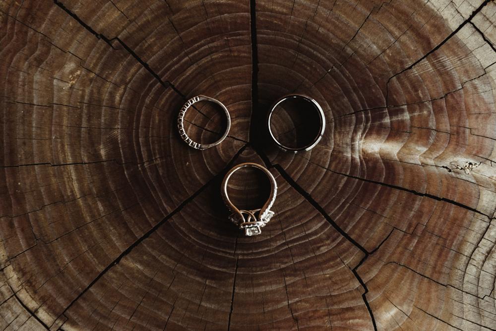 Elopement Lake Tahoe, photo of rings
