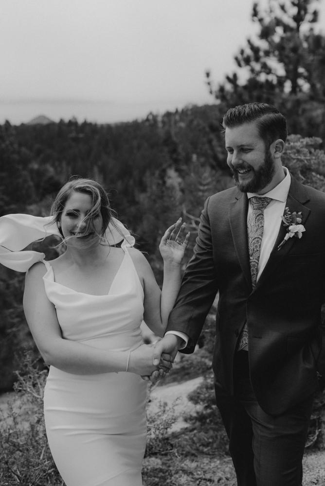 Elopement Lake Tahoe, photo of couple dancing