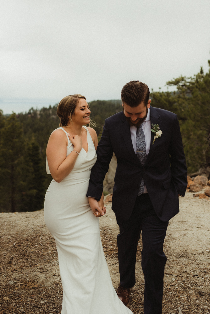 Elopement Lake Tahoe, photo of couple holding hands