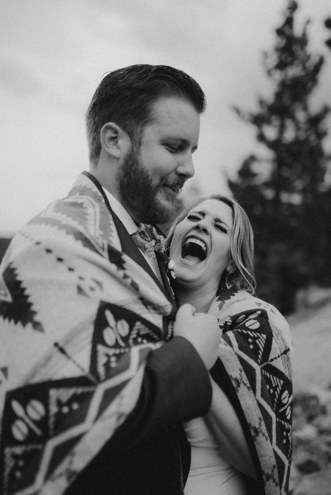 lake tahoe elopement couple laughing