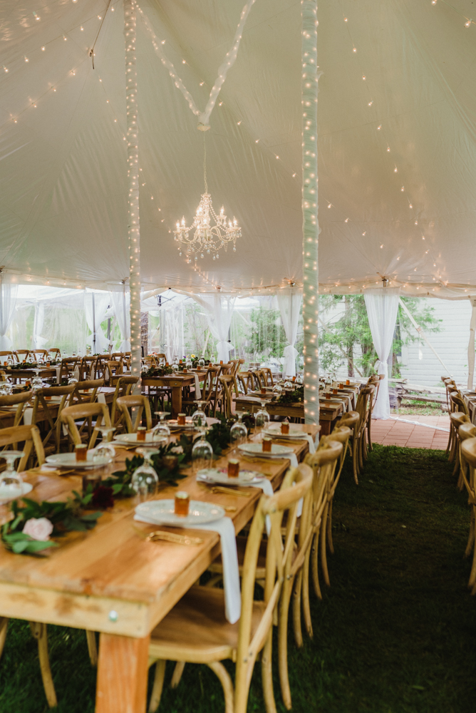 Twenty Mile House Wedding, photo of venue with a tent