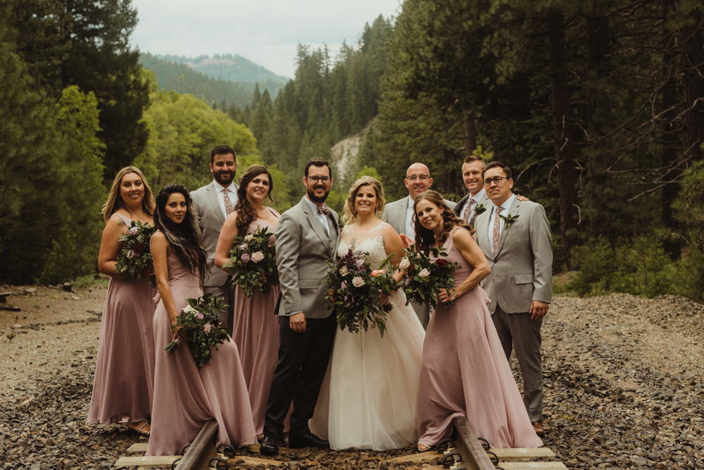 Twenty Mile House Wedding, photo of bridal party in a traditional pose
