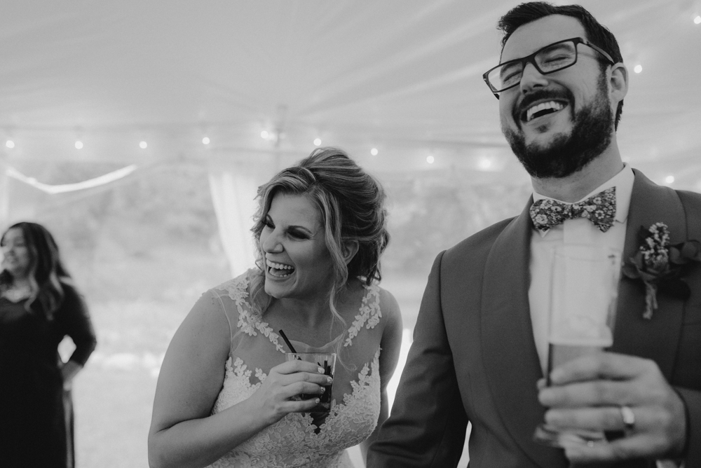 Twenty Mile House Wedding, photo of couple laughing