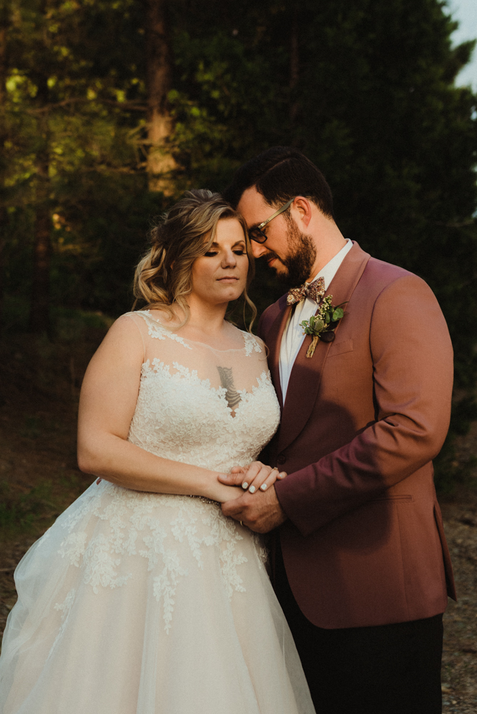 Twenty Mile House Wedding, photo of couple having a quite moment