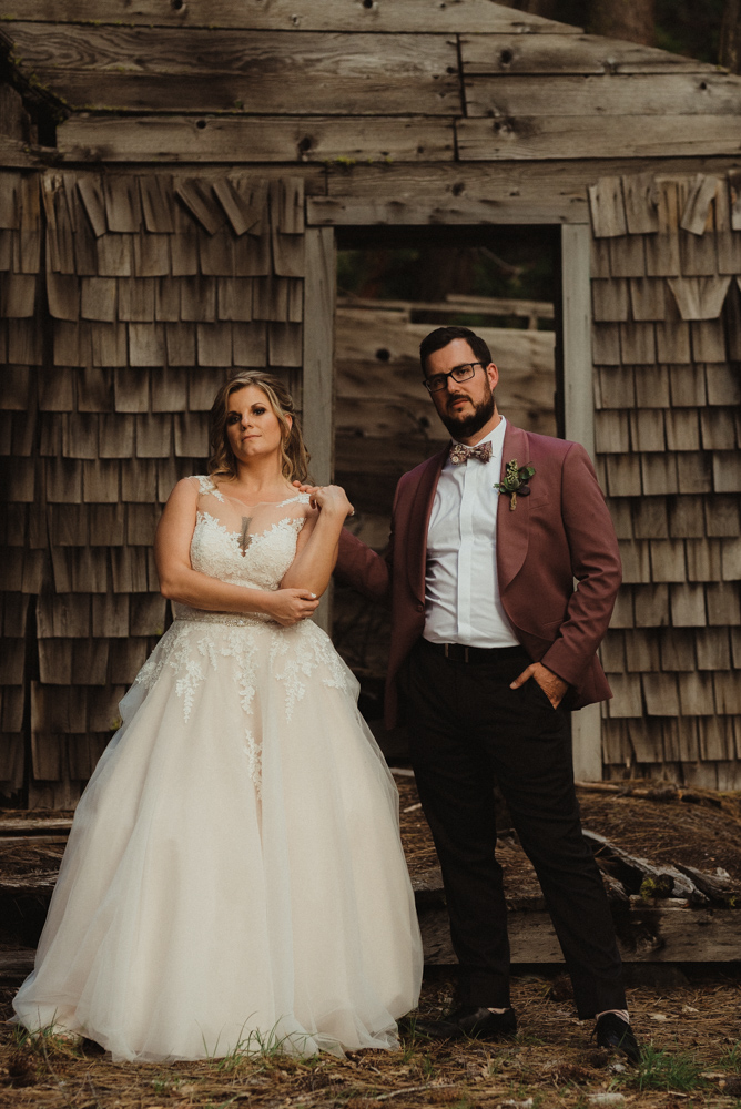 Twenty Mile House Wedding, photo of couple being cool