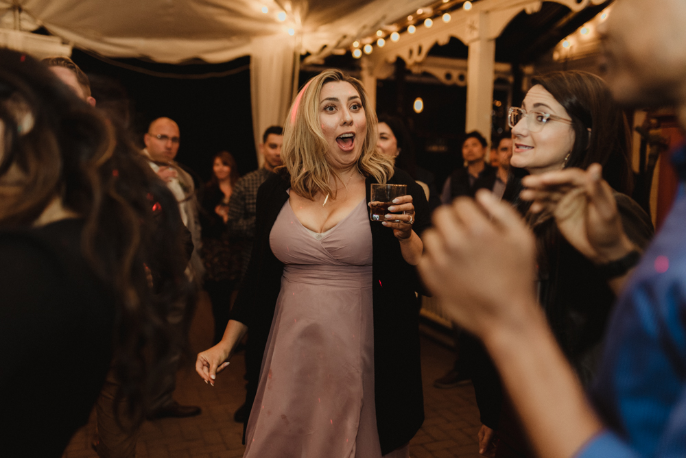 Twenty Mile House Wedding, photo of bridesmaid dancing