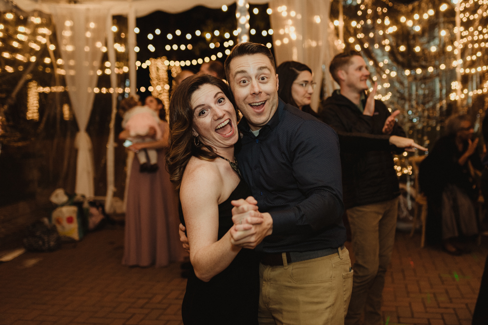 Twenty Mile House Wedding, photo of guests dancing