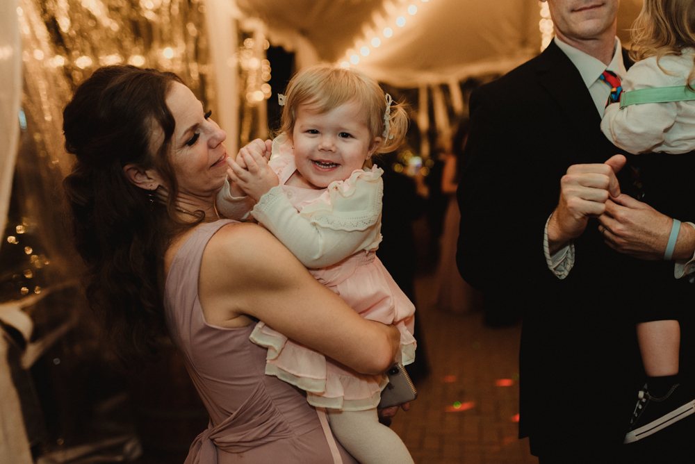 Twenty Mile House Wedding, photo of baby on the dance floor