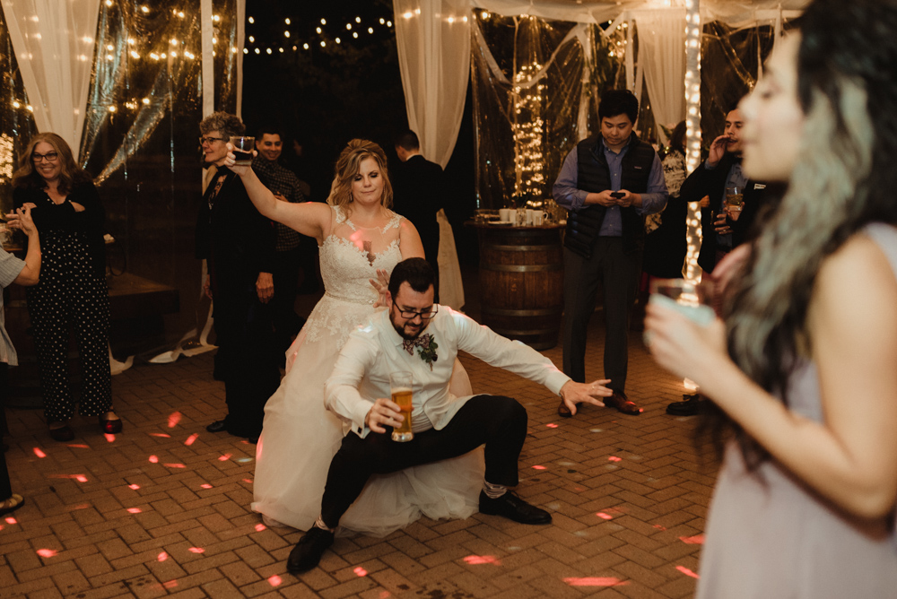 Twenty Mile House Wedding, photo of couple dancing