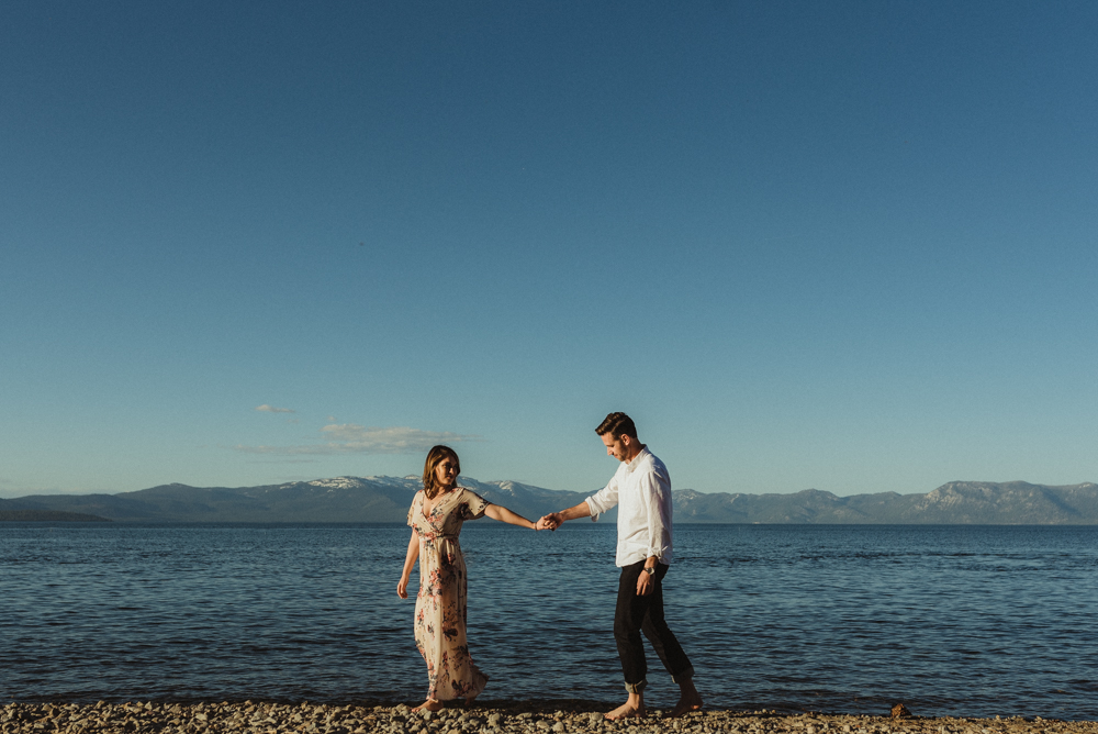 Lake Tahoe Engagement session, lake tahoe photo
