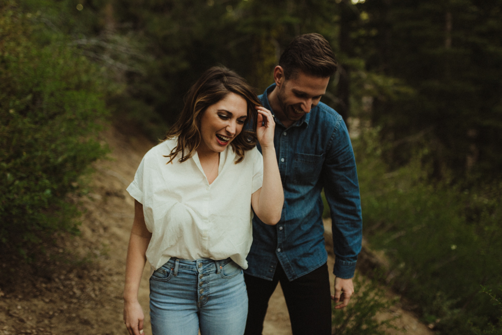 Lake Tahoe Engagement session, candid photo