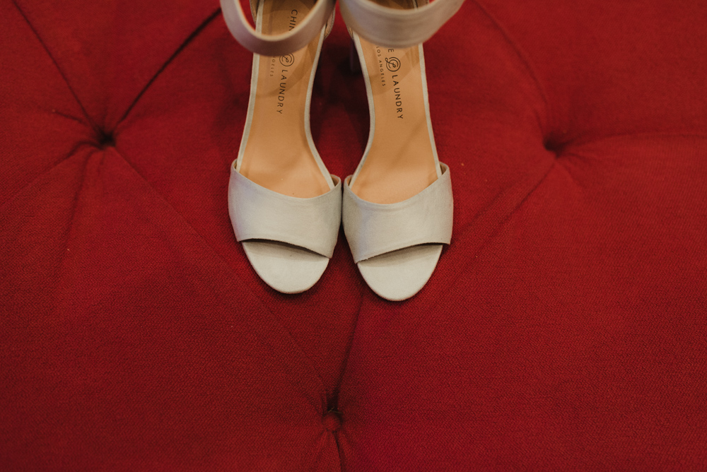 Martis Camp Wedding- photo of brides shoes
