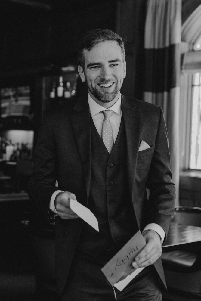 Martis Camp Wedding, grooms portrait photo