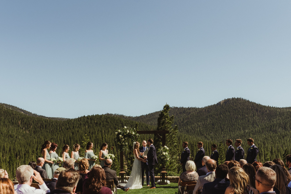 Martis Camp Wedding, ceremony photo mid-day
