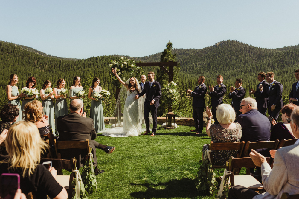Martis Camp Wedding, just married photo