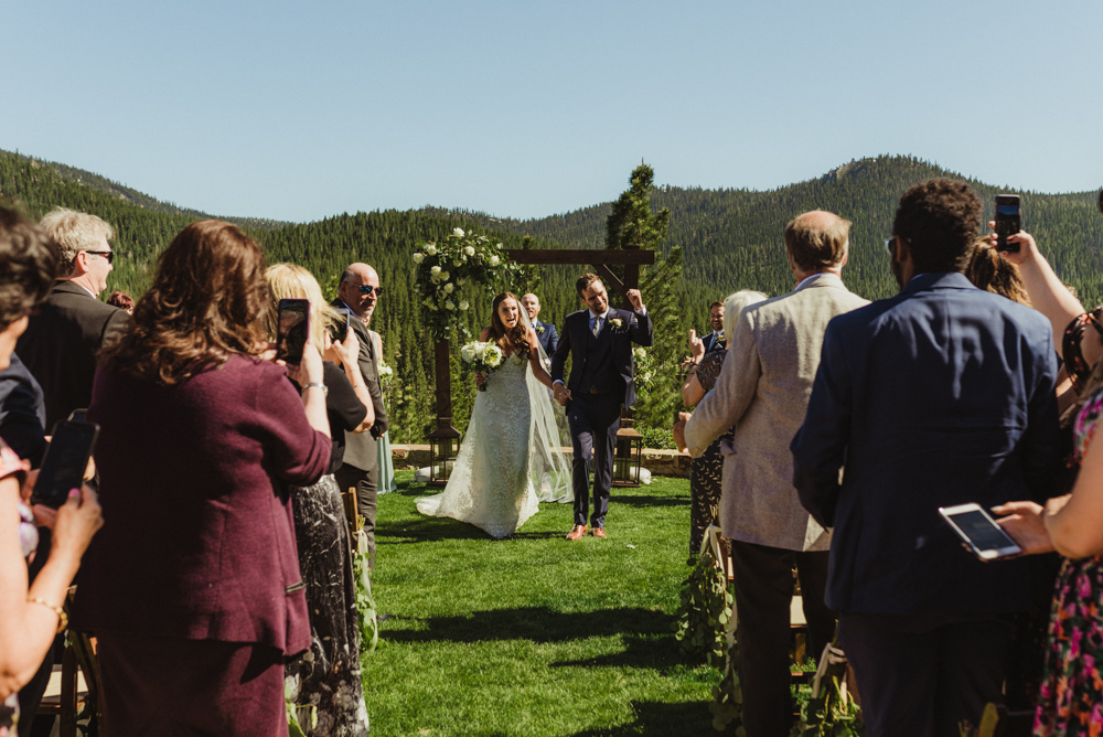 Martis Camp Wedding, could walking down the aisle photo