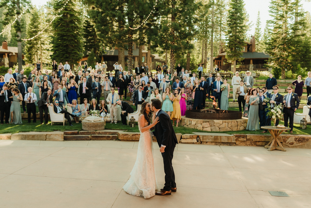 Martis Camp Wedding, photo of couple and all the guests