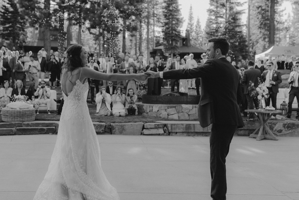 Martis Camp Wedding, couples non-traditional first dance photo