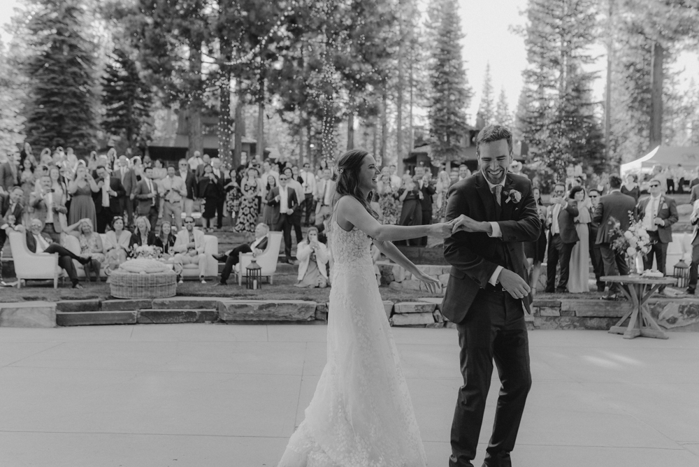 Martis Camp Wedding, couple dancing photo