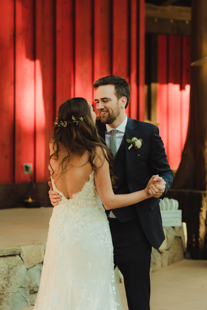 Martis Camp Wedding, groom dancing with his bride photo