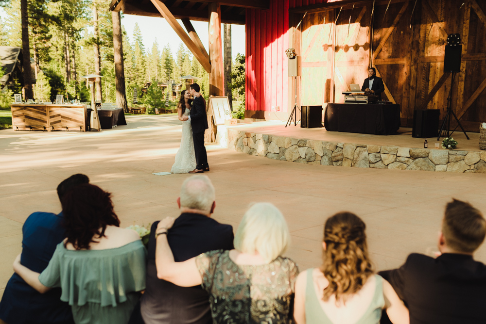 Martis Camp Wedding, couple's first dance photo