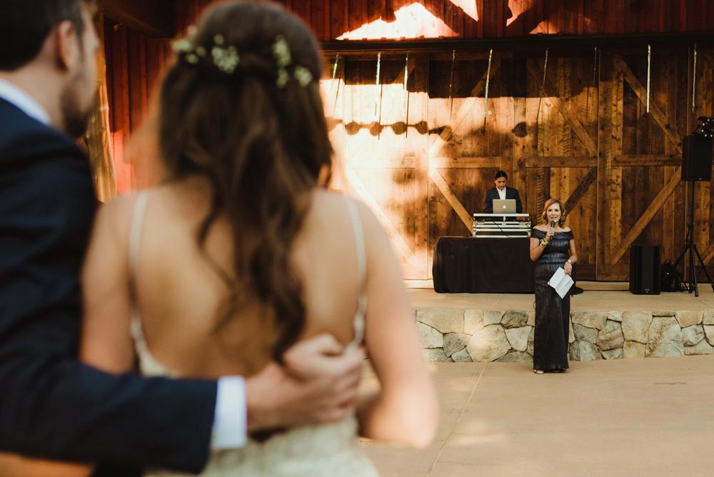 Martis Camp Wedding, couple and bride's mom photo