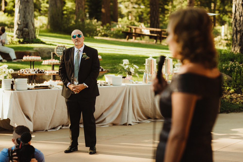 Martis Camp Wedding speech photo