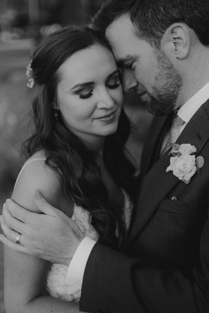 Martis Camp Wedding, couple having a tender romantic moment photo