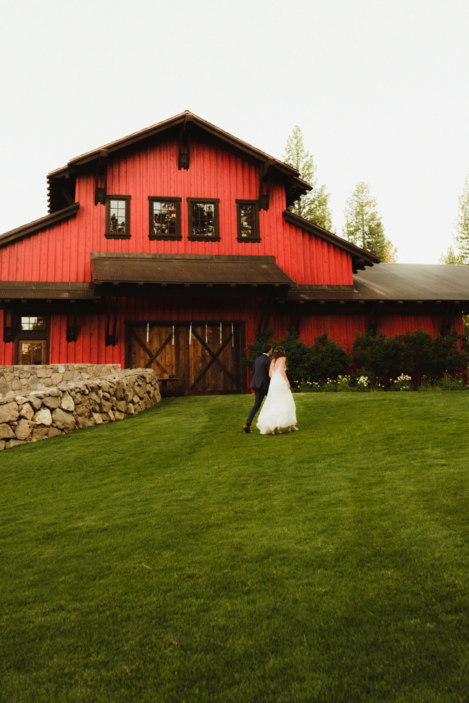 Martis Camp Wedding, red barn photo