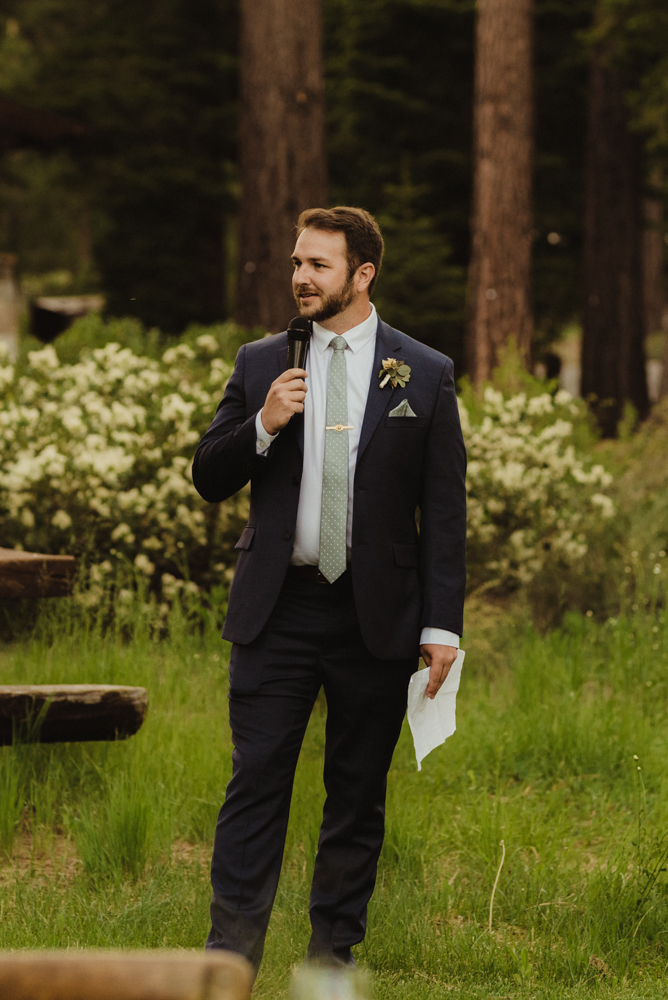 Martis Camp Wedding, best man speech photo