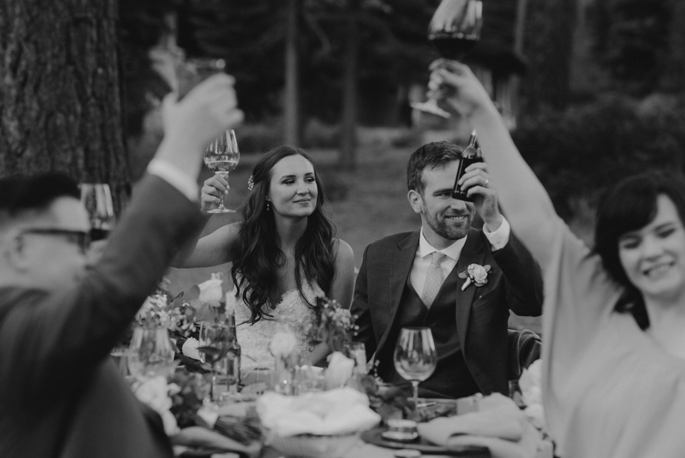 Martis Camp Wedding, toasts photo