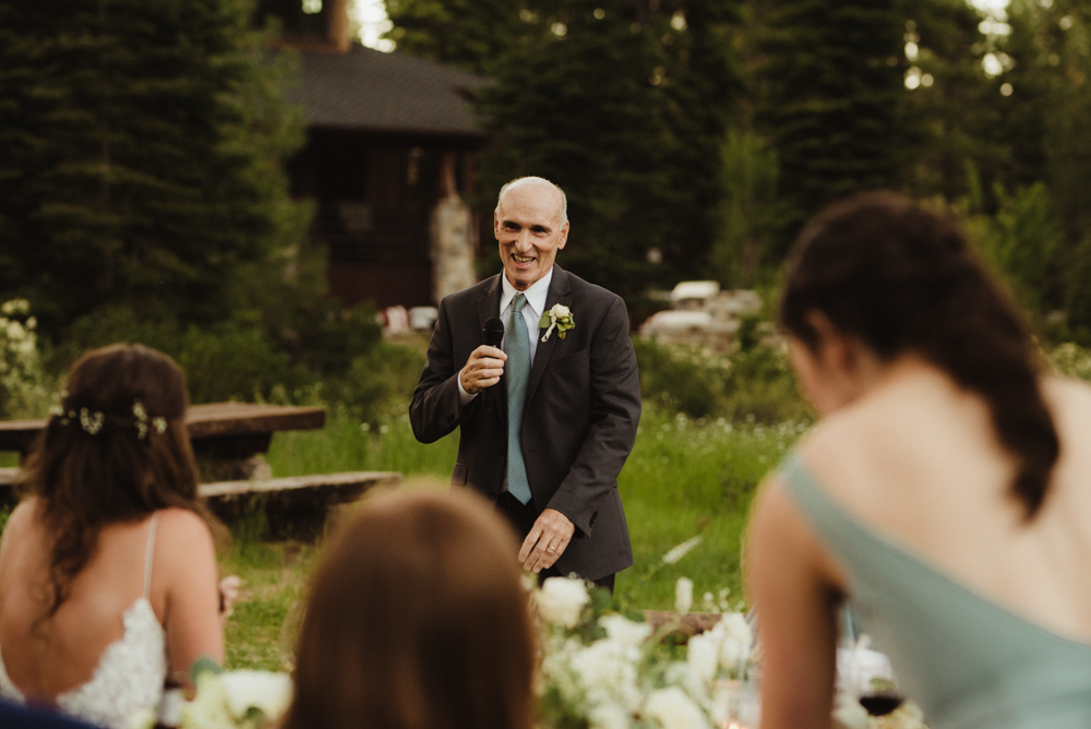 Martis Camp Wedding, brides dad photo