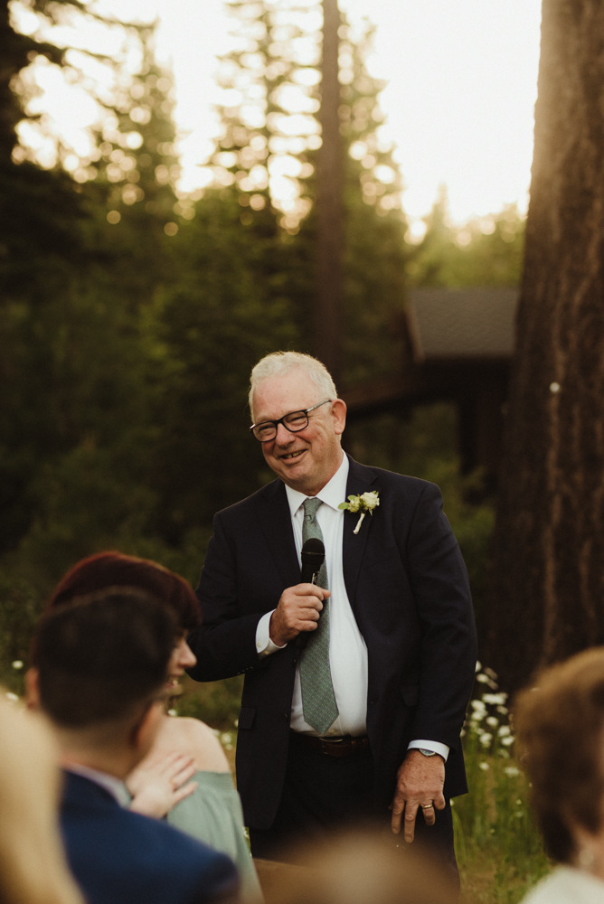 Martis Camp Wedding, groom's dads photo