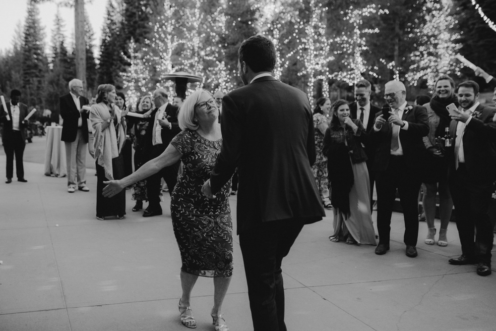 Martis Camp Wedding, son and mother dance photo
