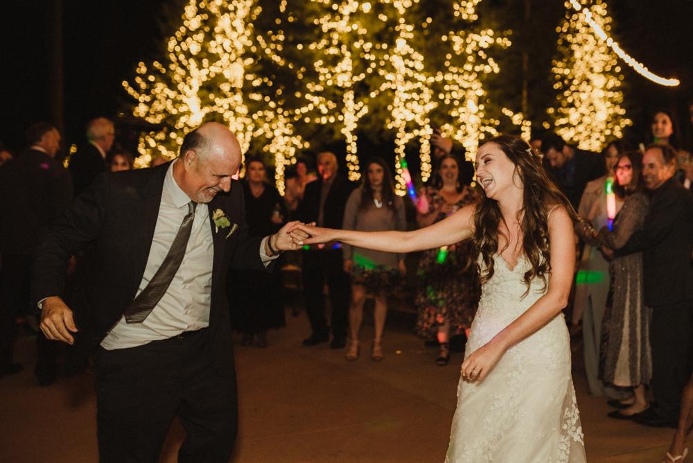 Martis Camp Wedding, step-dad dancing with bride photo