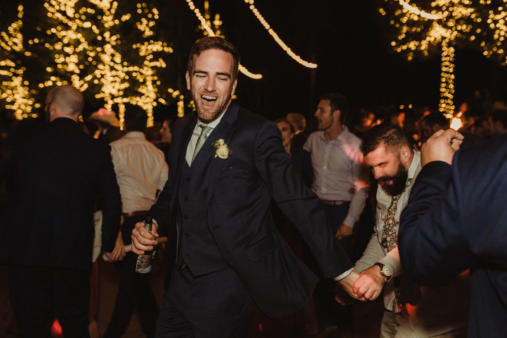 Martis Camp Wedding, groom dancing photo