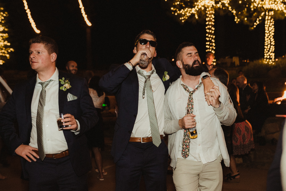 Martis Camp Wedding, groomsmen photo