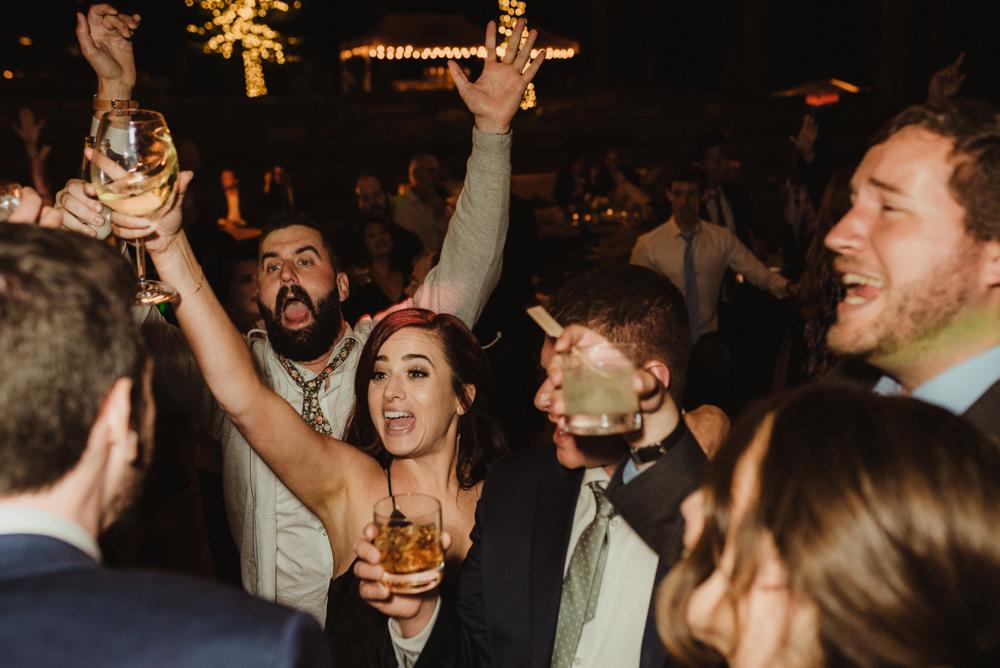 Martis Camp Wedding, guests dancing photo
