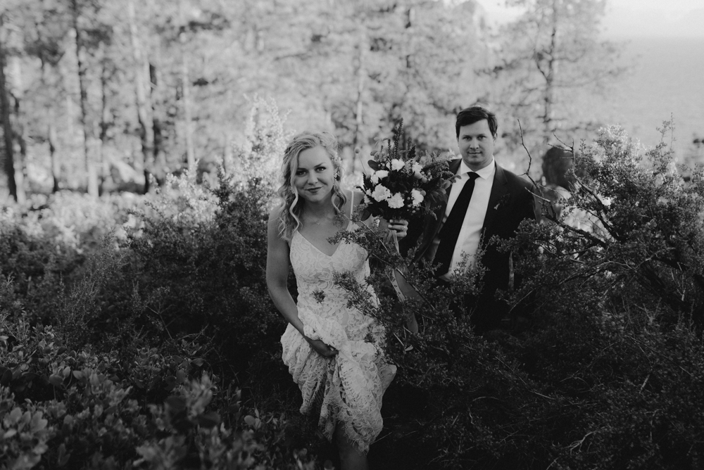 Lake Tahoe Elopement, photo of couple walking