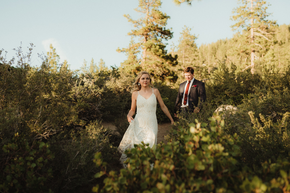 Lake Tahoe Elopement, candid photo of couple