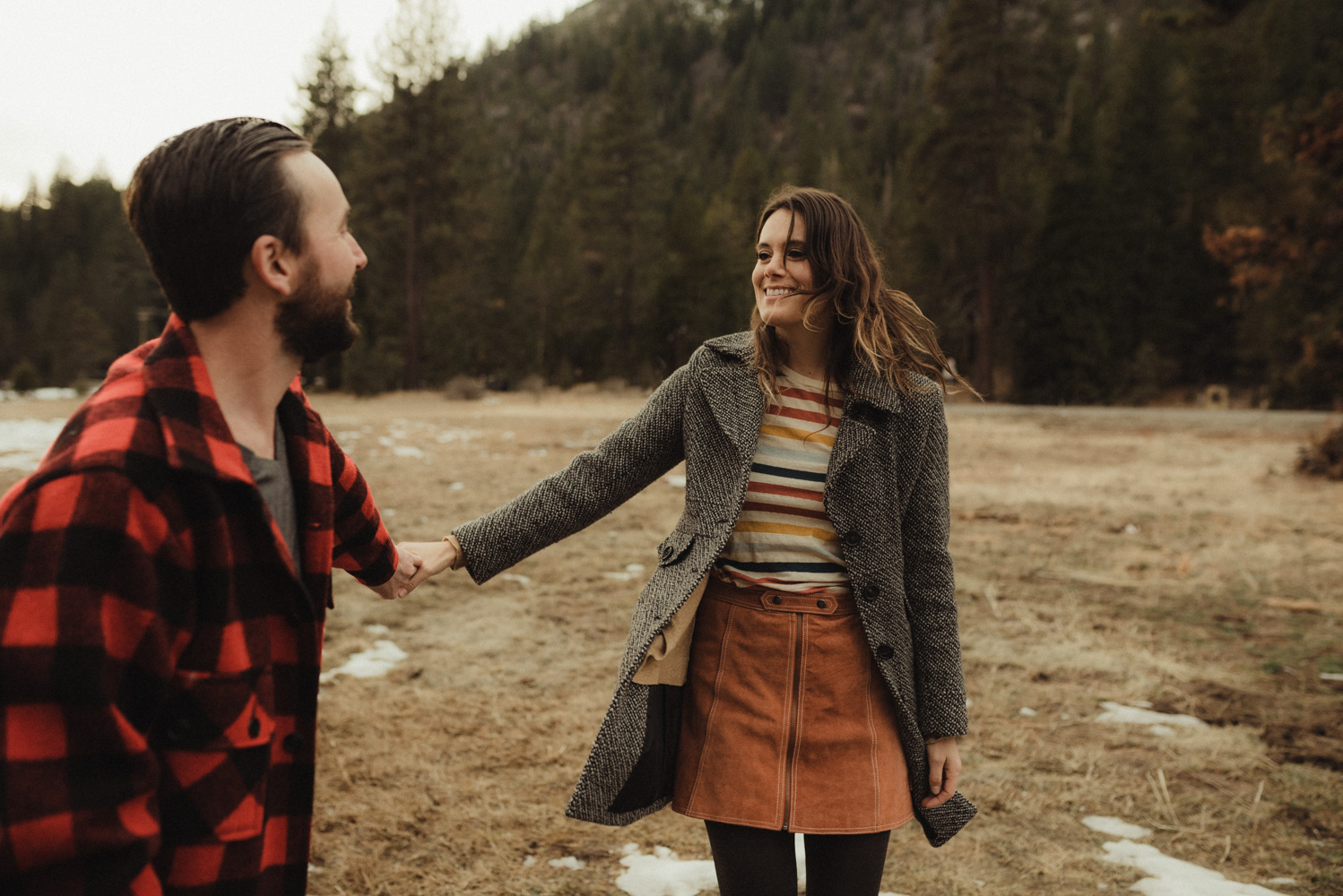 Lovers leap engagement
