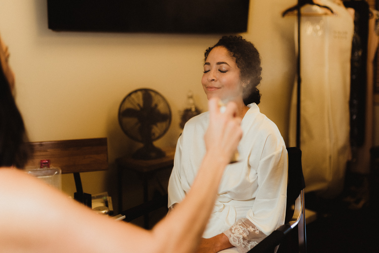 Rush Creek Lodge Wedding, photo of bride getting ready