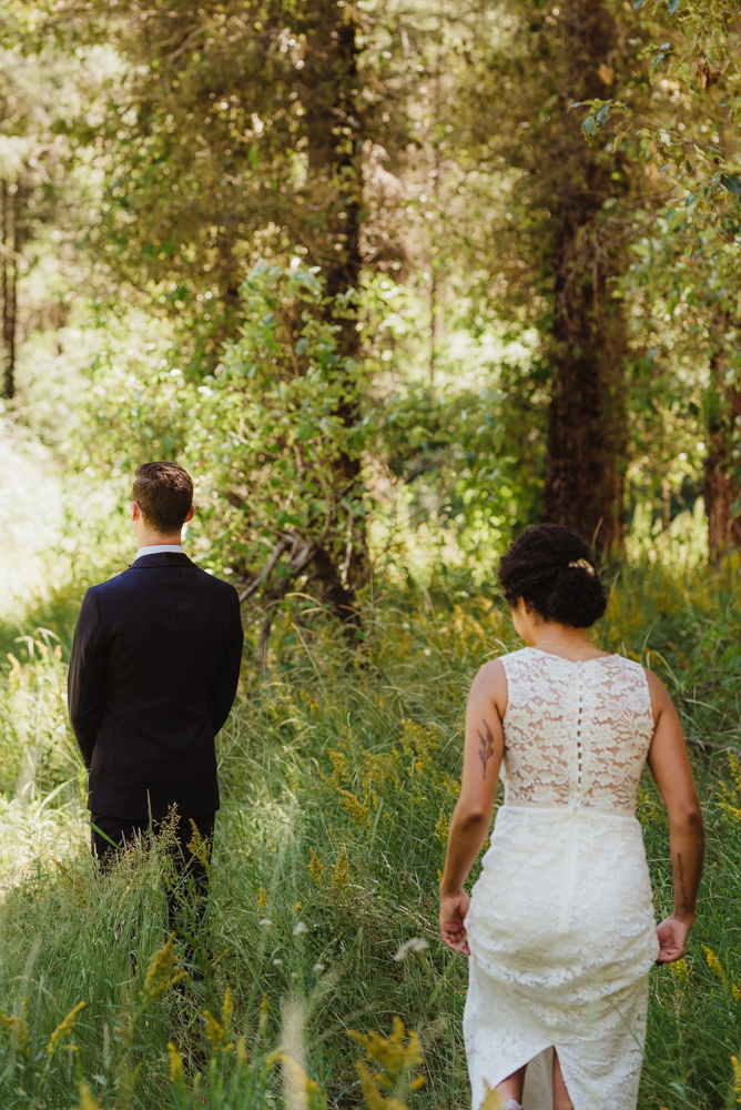 Rush Creek Lodge Wedding, photo of couple during their first look